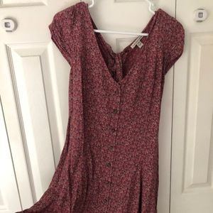American Eagle Floral Dress with small back cutout